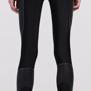 Women Compression Tights (Dark Grey Stripes)