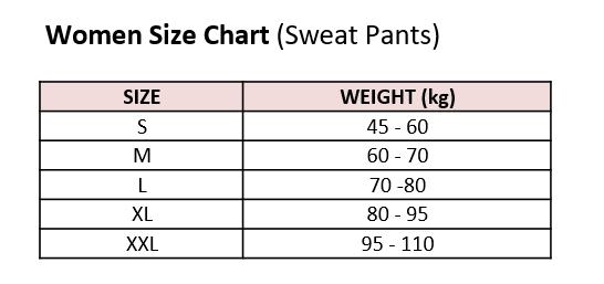 sauna-pants-size