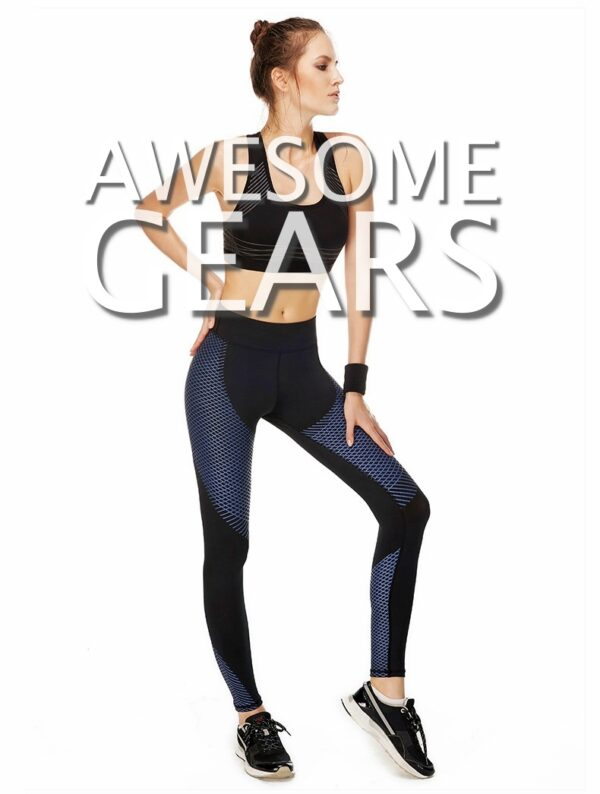 blue carbon compression tights