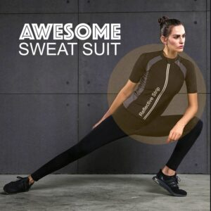 Women Short Sleeve Sweat Suit