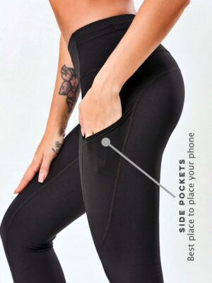 action pocket high rise compression tights