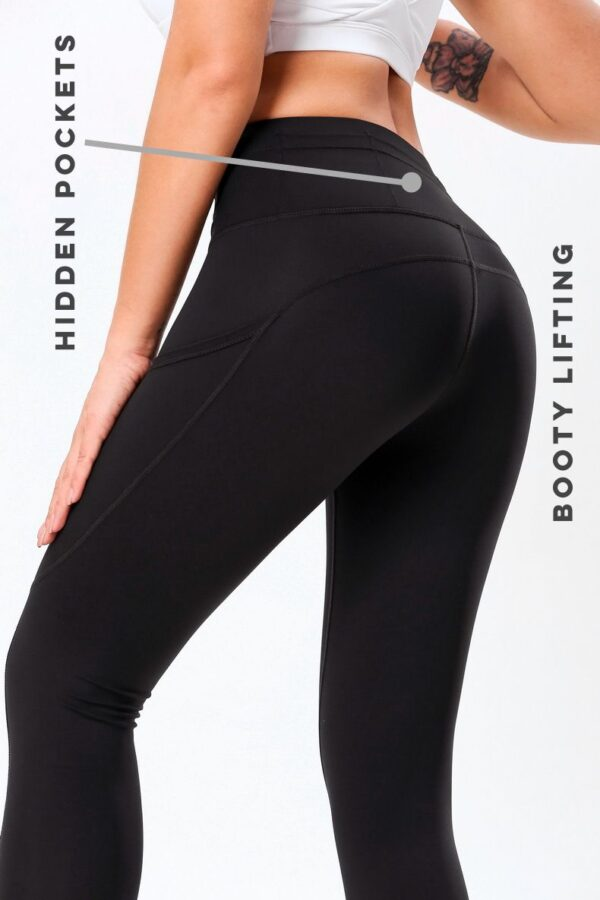 action pockets black compression leggings