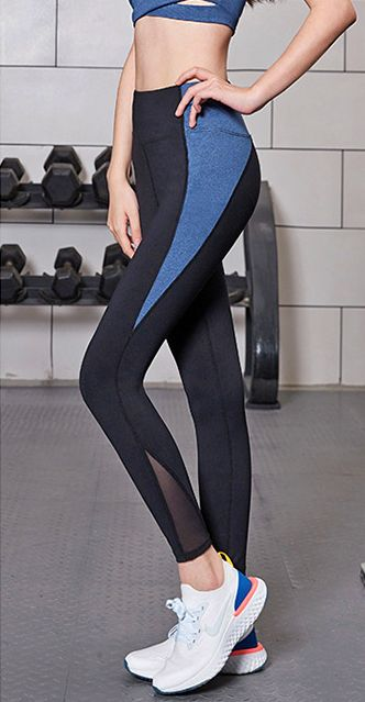 Flashy high waist tights